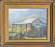 Reginald Earl Campbell (1923 - 2008) - Hay Barn 26 x 31cm
