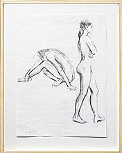 Brian Dunlop (1938 - 2009) - Nude Studies 64 x 45cm