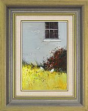 Colleen M. Parker (1944 - 2008) - Japonica and the Old Window 39.5 x 25.5cm
