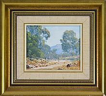 John C. Downton (1939 -) - Mountain Track, South East Victoria 11 x 13.5cm