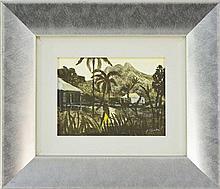 Ray Austin Crooke (1922 - ) - Raratonga, 1962 14 x 19.5cm