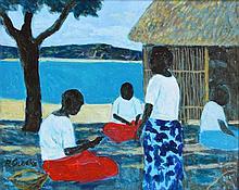 Ray Austin Crooke (1922 - ) - Island Meeting 41 x 51cm