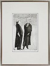 Robert Dickerson (1924 - ) - Legal Eagles II 45.5 x 30cm