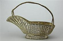 Mexican Sterling Silver Wine Basket