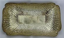 Mexican Sterling Silver Bread Basket
