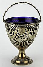 English Hallmarked Sterling Silver George III Sugar Basket