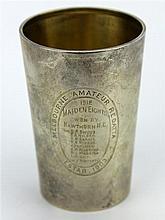 Australian Sterling Silver 'Melbourne Amateur Regatta' Beaker