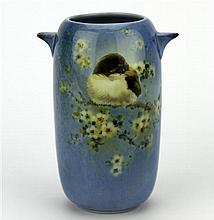 Royal Doulton Titanian 'Young Warbler' Vase by Harry Allen