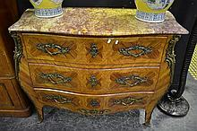 Marble Top Inlayed Bombay Chest of Drawers