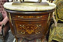 Marble Top Bow Front Chest of Drawers