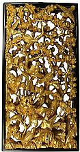 Chinese Gilt Timber Carved Panel