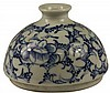 Chinese Blue & White Bee Hive Water Pot
