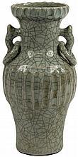 Celadon Crackle Glaze Vase