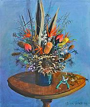 Michael Lodge (1942 - ) - Flowers and Secateur 76.5 x 61cm