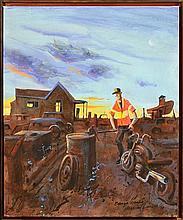 Michael Lodge (1942 - ) - Barry's Dreams 76.5 x 61cm