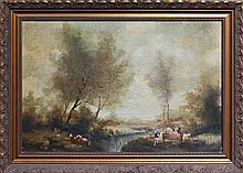 Ludwig Muller-Cornelius (1864 - 1946) - Farming Scene 45 x 67.5cm
