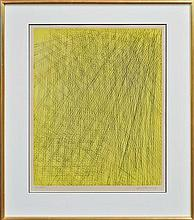 Hans Hartung (1904 - 1989) - Abstract In Yellow, 1978 52.5 x 41cm