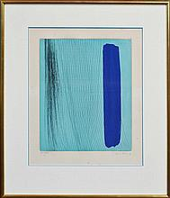 Hans Hartung (1904 - 1989) - Abstract In Blue, 1978 42 x 33.5cm
