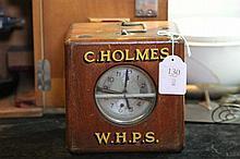 C. Holmes Racing Clock