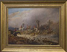 Attributed to Henry Alken (1785 - 1851) - The Kent Stag Hunt 36 x 50cm