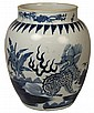 Large Ming Style Blue and White Porcelain Vase