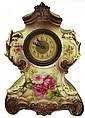 Continental Late 19th Century Ceramic Bedroom Clock