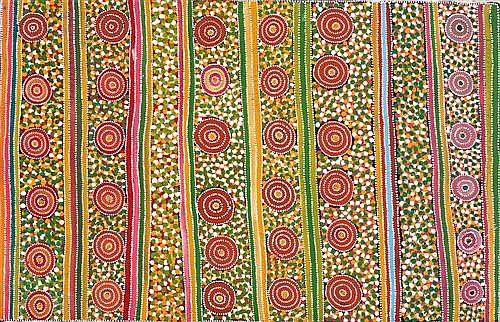 GREENY PURVIS PETYARRE (born 1930) - Plum Root Dreaming 1995 synthetic polymer paint on canvas