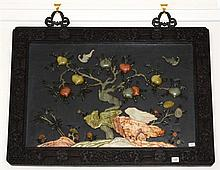 An early precious stones set wall plaque; 55 x 81cm