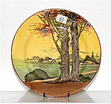 A Royal Doulton country scene plate C. 1928