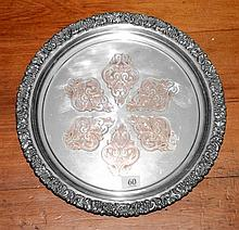 Abbey silverplate on copper tray