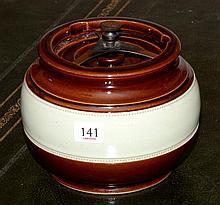 English Aonian pottery Humidor