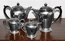 Art Deco Paramount silverplate 4 piece tea & coffee service