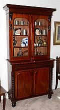 A Colonial cedar 2 height bookcase, drawer to freize. C1875