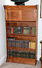 An antique Federation Queensland maple stacking legal bookcase. Maker's label: Beard Watson, Sydney