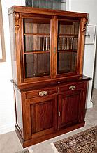 An Australian Federation kauri pine bookcase. Maker: Anthony Hordern, Sydney. stamped in drawer