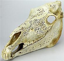 Horse Skull Carving
