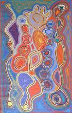 Judy Watson Napangardi - Mina Mina Dreaming 183 x 119cm