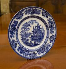 An English Doulton Burslem Madras pattern plate, C:1923. D: 26cm