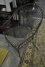 Pair of Wire Garden Chairs