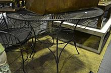 Circular Wire Framed Garden Table