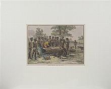 George Rossi Ashton (1851 - 1942) - Batman Treating with the Blacks (picturesque Atlas of Australasia Vol.1, 1886) 127 x 25.5cm