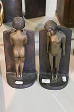 Pair of Nude Figure Book Ends