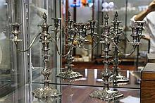 Hardy Bros Silver Plated Pair of Candelabra