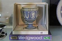 Wedgwood Silver Jubilee 1952-1977 H.M Queen Elizabeth II Jasper Ware Goblet (box and certificate 306/750)