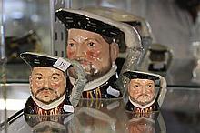 Royal Doulton 'Henry  VIII' Graduation Character Jugs