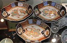 Oriental Five Piece Porcelain Plate Set