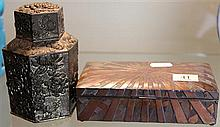 Japanese Metal Trinket Box and Lidded Container
