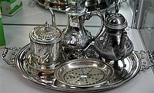 Silver Plated Wares Incl Tray