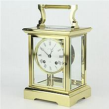 L'Epee Oversized Brass Carriage Clock