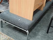 Modern Daybed on Brushed Steel Legs